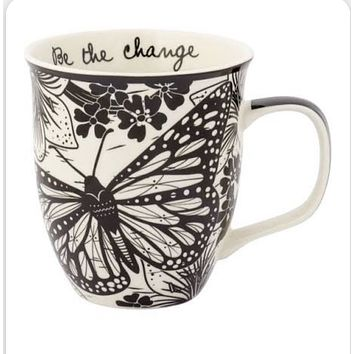 Butterfly Mug-Be the Change