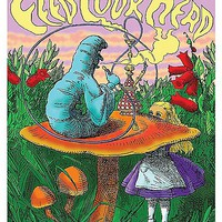 Smoking Caterpillar Blacklight Poster - Spencer's