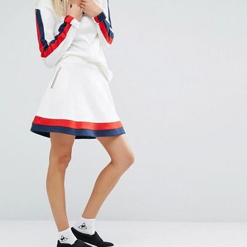 Le Coq Sportif Premium Retro Skirt at asos.com