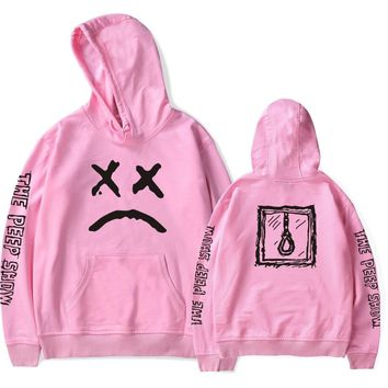 Autumn Winter clothes fashion pink black men Hooded Hip Hop sweatshirt Letter Harajuku Europe xxxtentacion Fleece Loose pullover
