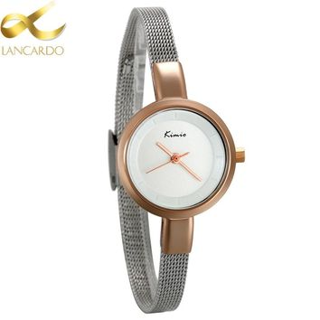 Lancardo New Style Ladies Wrist Watch Luxury Simple  Girls Casual Dress Watches Small Hours Clock Gift Simple Watches For Women