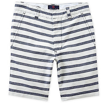 Class Club 8-20 Striped Shorts - Navy