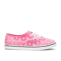 Vans Authentic Lo Pro Bandana Sneaker in Pink & True White