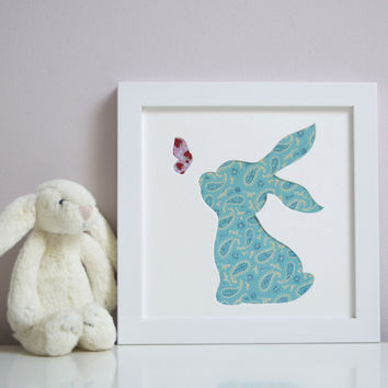 Personalised Bunny & Butterfly Artwork