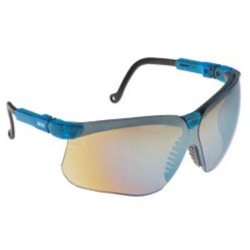 Genesis Vapor Blue Frame Glasses with Gold Mirror Lens with UD Coating