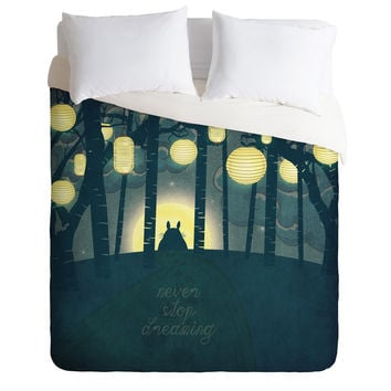 Belle13 Totoros Dream Forest Duvet Cover