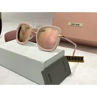 Miu Miu Women Casual Popular Summer Sun Shades Eyeglasses Glasses Sunglasses Beige I-A-SDYJ