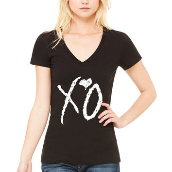 "The Weeknd ""XO"" Logo V-Neck T-Shirt"