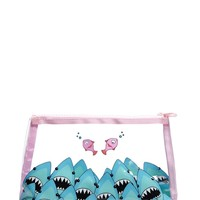 Shark Print Makeup Bag