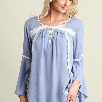Crocheted Bell Sleeved Top