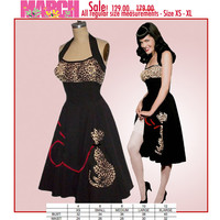 March Sale! Limited time only while supplies last... NOW 129. was 179... Swing'n Leopard Kitty Halter Dress...