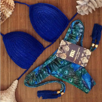 Push Up Knit Swimsuits Two Pieces