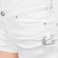 Versus Versace Lion Head Safety Pin Shorts for Women | US Online Store