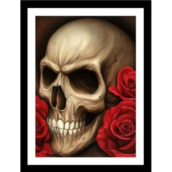 Black Market Art Company Spider's Skull Art Print by Artist Spider