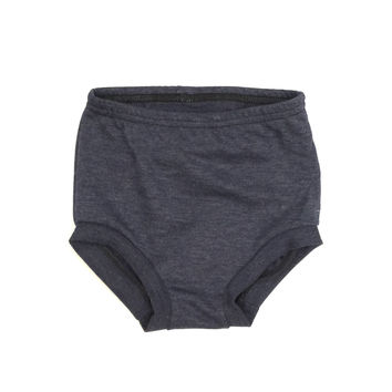 FRENCH TERRY HIGH WAISTED SHORTIES - HEATHER NAVY