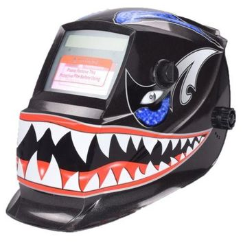 Skull Auto Darkening Welding Helmet to wear long time with Deadly Teeth Graphics