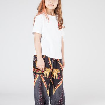 Kids Rapsu Black Harem Pants