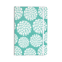 """Pom Graphic Design """"Hydrangea's Blossoms"""" Teal Circles Everything Notebook"""