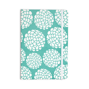 "Pom Graphic Design ""Hydrangea's Blossoms"" Teal Circles Everything Notebook"