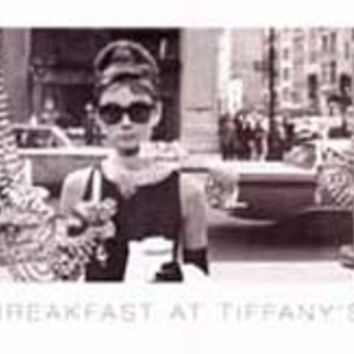 Audrey Hepburn Breakfast at Tiffany's Poster 12x36