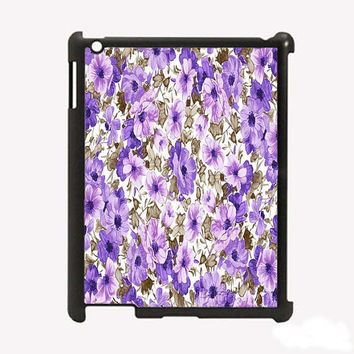 iPad 2 iPad 3 Purple and Brown Flowers Hard iPad by KustomCases