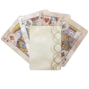 Gold Lights Bicycle Playing Cards