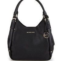 Michael Kors Belted Large Shoulder Tote Black