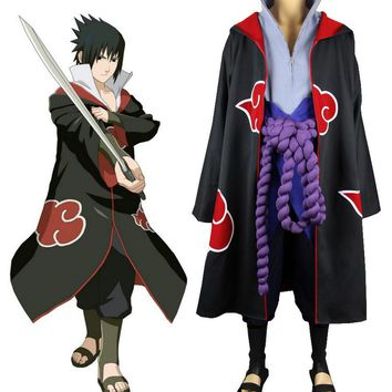 Naruto Uchiha Sasuke Eagle Organization Cosplay Uniform