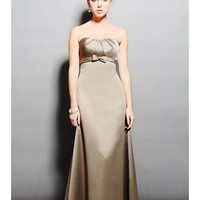 Adorable Strapless Scoop Neckline A-Line Bridesmaid Dress With Flattering Pleated Bodice SB2155