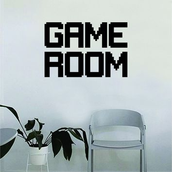 Game Room Wall Decal Quote Home Room Decor Decoration Art Vinyl Sticker Inspirational Gamer Gaming Video Games Retro Old School Nerd Geek Funny Cool