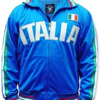 Italia Track Jacket, 2008 Summers Olympics, Italian World Cup Soccer Track Jacket, Large, Blue (as pictured)