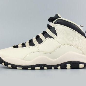 [Free Shipping ]Nike Air Jordan Girls Retro 10 Prem GG GS Heiress Pearl 832645-207 Basketball Sneaker