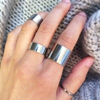 Silver Band Rings
