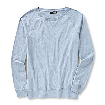 Murano Long-Sleeve Liquid Luxury Slim Crewneck Tee