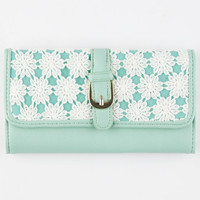 Daisy Crochet Wallet Mint One Size For Women 25728252301