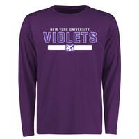 NYU Violets Team Strong Long Sleeve T-Shirt - Purple