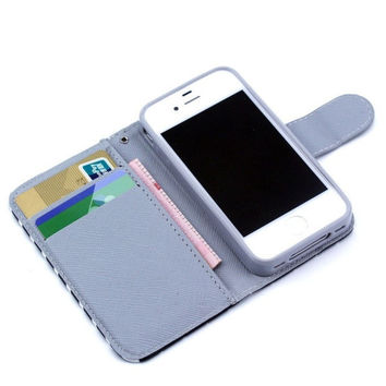 Leather Card Slot Cover Case Wallet For iPhone