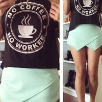 No Coffee Graphic Top