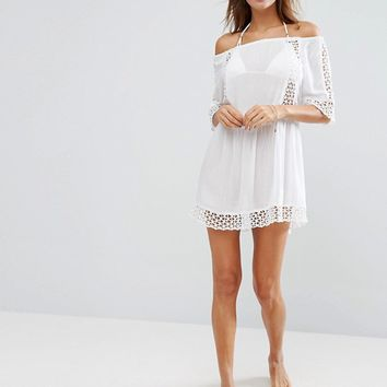River Island Cutwork Beach Dress at asos.com
