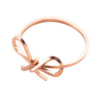 Sweet Bow Rose Gold Reminder Ring