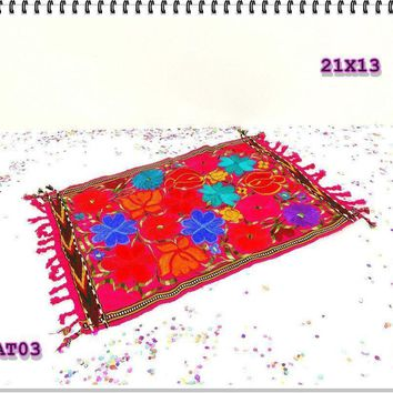 Fiesta decoration, Cinco de Mayo, Center Piece, Mexican Embroidered Fabric, Mexican Party Decorations.