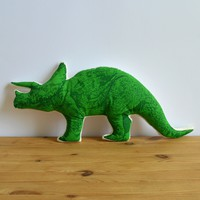Broderpress - Triceratops Pillow
