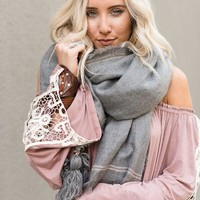 Cuddle With Me Tassel Scarf
