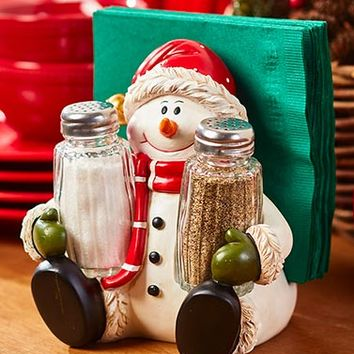 Holiday Salt/Pepper Napkin Holders