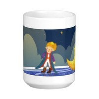The Little Prince Standing beside the Moon Mug from Zazzle.com