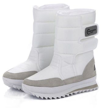 2017 Christmas Gifts Winter Women Mans Boots Snow Boots Shoes For Santa Claus White S
