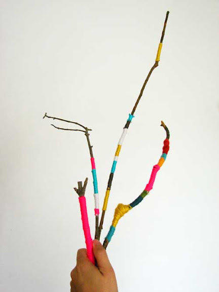 Wrapped twigs!