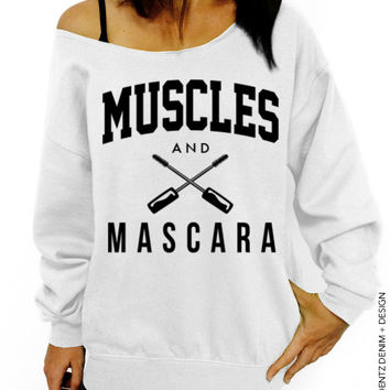 Muscles and Mascara - White Slouchy Oversized Sweatshirt