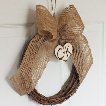 Burlap Bows Or Burlap Pew Wreaths Rustic Wedding Decor Set Of Six