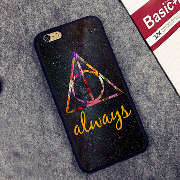 Always Deathly Hallows Harry Potter Printed Soft Rubber Cell Phone Case For iPhone 6 6S Plus 7 7Plus 5 5S 5C SE 4 4S Cover Shell